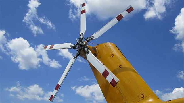 Вертолёт - вариант хвостового ротора воздушной машины