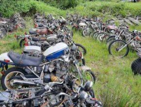 Японские мотоциклы «в чистом поле» выставил на продажу Facebook
