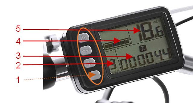 Электрические велосипеды - контрольный дисплей LCD на руле