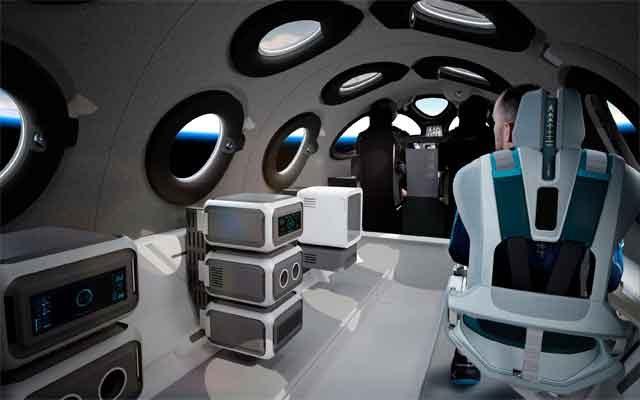 Интерьер SpaceshipTwo - VSS Unity продемонстрировали разработчики