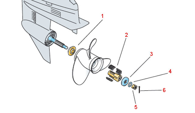 Гребные винты лодочных моторов + система демпфирования