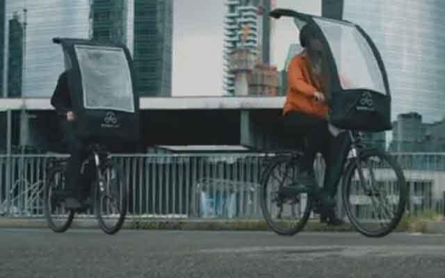 Защитный дождевой зонт BikerTop разработан для велосипедов