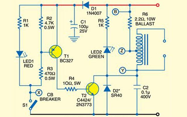 Электронное зажигание IGBT: схема старого образца на биполярных транзисторах для сравнения