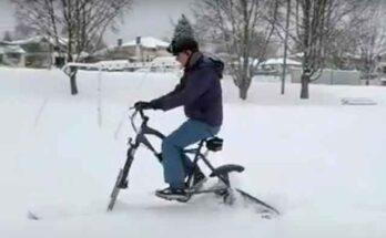 Электрический байк SnowBike Kit специально под уборочный снежный цикл